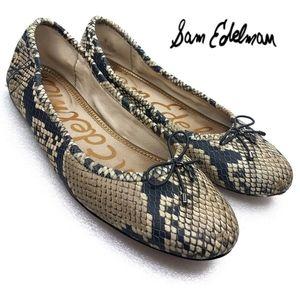 Sam Edelman Felicia Ballet Flat Snake Skin Pattern